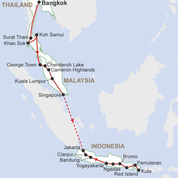 Bangkok to Bali Adventure