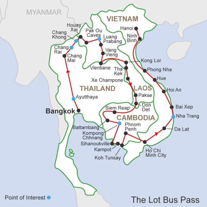 Southeast Asia Bus Passes